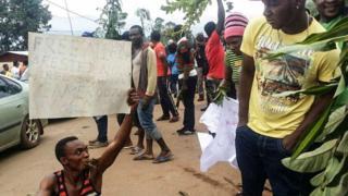Cameroon protestors