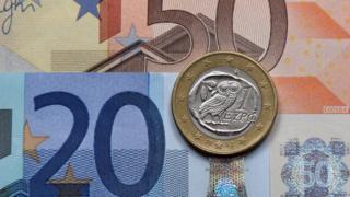 Банкноты и монета евро