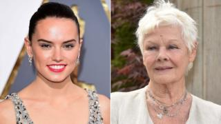 Daisy Ridley and Dame Judi Dench