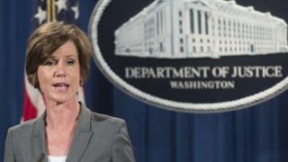 Kaimu mwanasheria mkuu wa Marekani Sally Yates