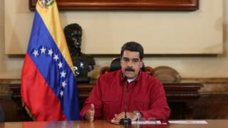 "Venezuela""s President Nicolas Maduro speaking at a meeting with ministers in Caracas (16/062017)"