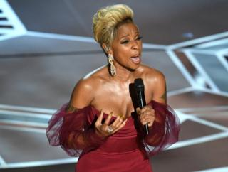Mary J Blige performs on stage