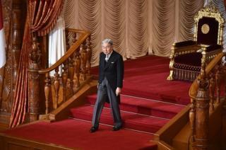 สมเด็จพระจักรพรรดิอะกิฮิโตะที่รัฐสภาญี่ปุ่น (แฟ้มภาพ)