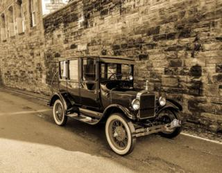 As retro as it gets. This car was parked in Dean Village, Edinburgh. by Nathan Young from Bathgate