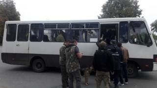 Authorities evacuate residents from the area around an ammo dump in Ukraine October 2018