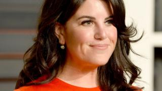 Monica Lewinsky, close up shot, at a red carpet 2015 event