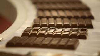 science Chocolate on production line
