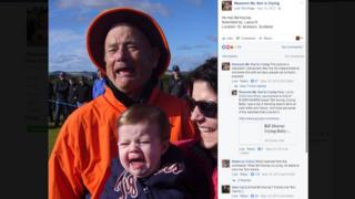 Bill Murray with crying child