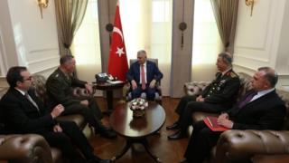 ABD Genelkurmay Başkanı Joseph Dunford Ankara'da Başbakan Binali Yıldırım ile görüştü