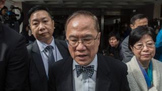 前任香港特首曾蔭權周五(1月13日)出庭