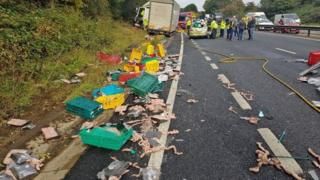 A34 truck collision