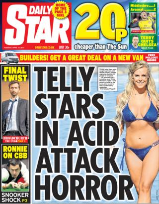 The Daily Star front page