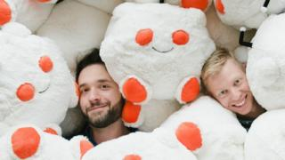 Reddit was founded by Alexis Ohanian (L) and Steve Huffman