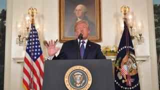 Президент Трамп ўз телевизион чиқишида ҳужумлар ҳақида баёнот берди.