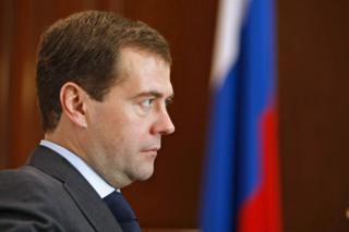 นายกรัฐมนตรีดิมิทรี เมดเวเดฟ ของรัสเซีย