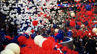 Balloons at the 2016 DNC