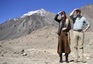 in_pictures Prince William, Duke of Cambridge and Catherine, Duchess of Cambridge admire the landscape in Pakistan