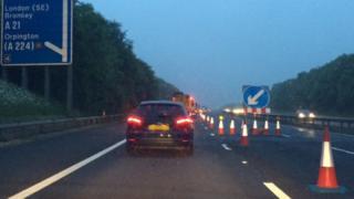 M25 crash scene