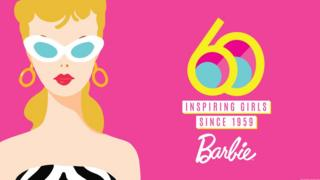 Barbie 60 Years logo