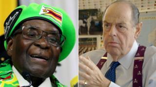 Robert Mugabe Nicholas Soames composite