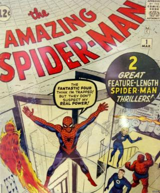 A rare first issue of the Spider-Man comic book that went on sale in New York in 2004