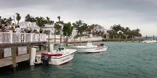 Pleasure boats on the Bahamas