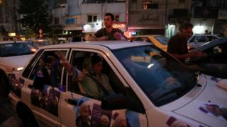 هواداران روحانی در تهران
