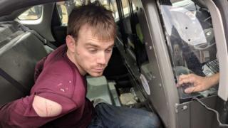 Suspect Travis Reinking pictured after his arrest in Nashville