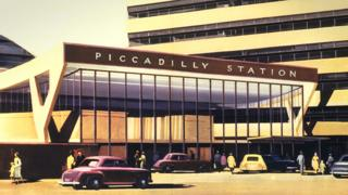 Design for Manchester's Piccadilly Station, early 1960s