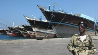 Guard at Berbera Port