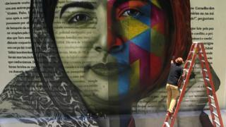 برازیلی فنکارکے فن پارے