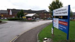 Entrance to Wrexham Maelor Hospital