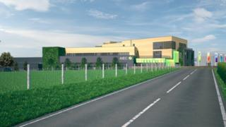An artist's impression of plans for the new innovation and enterprise campus at Aberystwyth University