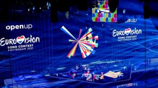 The Rotterdam stage for Eurovision