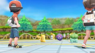 Image of Pokemon trainers in Let's Go Pikachu