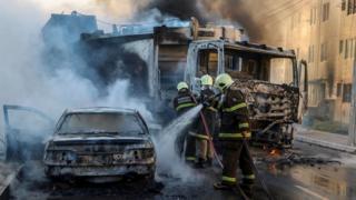 Fotos de la violencia en Fortaleza