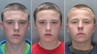 Connor Doran, Brandon Doran and Simon Evans