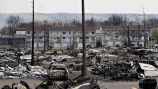 Fort McMurray after damage