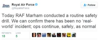 RAF tweet
