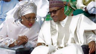 Aisha ati ọkọ rẹ, Muhammadu Buhari n tẹ sọrọ