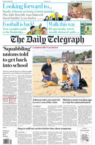 The Daily Telegraph 16 May 2020
