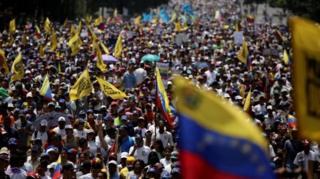 Venezuela'da protestolar