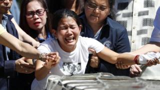 تابوت حامل جسد جوآنا دمافیلیس هفته پیش به مانیل، پایتخت فیلیپین رسید