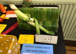 'Jacob Leeks Mogg' comes second in Newent Onion Show