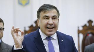 Міхеіл Саакашвілі в апеляційному суді Києва, 3 січня 2018 року