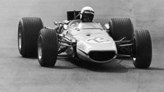 McLaren F1 car driving in 1968