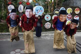 Ma'ruf Amin, Jokowi, Prabowo dan Sandiaga Uno