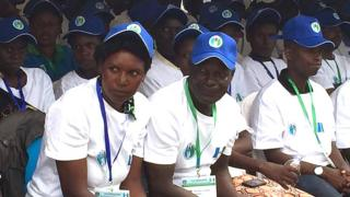 Abayoboke b'ishyaka rya PSD bari bitabiriye inama nkuru y'inshyaka i Kigali.
