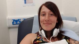 Cervical cancer screening campaigner Natasha Sale