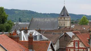 Пригород Руана, север Франции